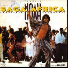 Discos de vinilo: YANNICK NOAH - SAGA AFRICA / NIGHT OF BLUES - SINGLE 1991. Lote 24962187