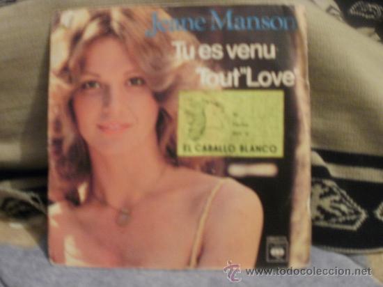 JEANE MANSON TU ES VENU - TOUT IS LOVE (Música - Discos - Singles Vinilo - Pop - Rock - Internacional de los 70)