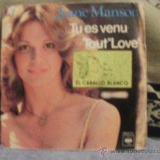 Discos de vinilo: JEANE MANSON TU ES VENU - TOUT IS LOVE. Lote 31384837