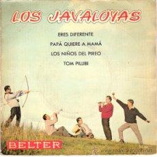 Discos de vinilo: LOS JAVALOYAS - ERES DIFERENTE + 3 (EP DE 4 CANCIONES) BELTER 1960 - VG++/VG++. Lote 26535609