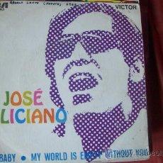 Discos de vinilo: JOSE FELICIANO - HEY BABY SG ESPAÑA. Lote 24865334