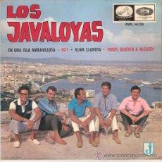 Discos de vinilo: LOS JAVALOYAS - EN UNA ISLA MARAVILLOSA + 3 (EP DE 4 CANCIONES) EMI 1965 - VG++/EX. Lote 26270101