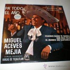 Discos de vinilo: SINGLE DE MIGUEL ACEVES MEJIA CON SU MARIACHI. Lote 25097558