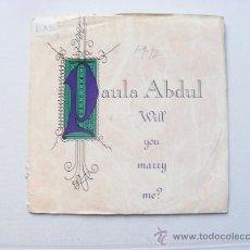 Discos de vinilo: PAULA ABDUL, WILL YOU MARRY ME ?. Lote 26645025