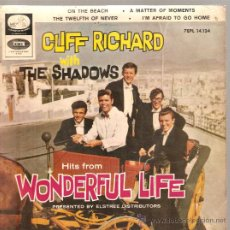 Discos de vinilo: EP CLIFF RICHARD & THE SHADOWS : ON THE BEACH . Lote 25060723