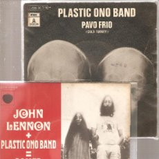 Discos de vinilo: 2 SINGLES DE JOHN LENNON & PLASTIC ONO BAND: POWER TO THE PEOPLE + COLD TURKEY. Lote 25064471