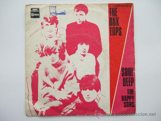 THE BOX TOPS - SINGLE VINILO STATESIDE 1969 - SOUL DEEP - THE HAPPY SONG (Música - Discos - Singles Vinilo - Otros estilos)