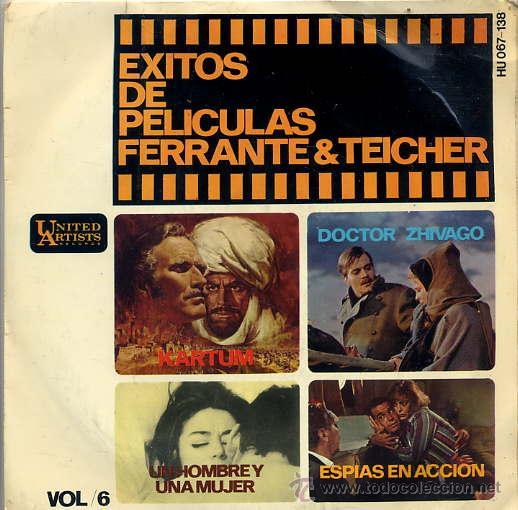 FERRANTE & TEICHER - EXITOS DE PELICULAS VOL 6 (EP 66) (Música - Discos de Vinilo - EPs - Bandas Sonoras y Actores)