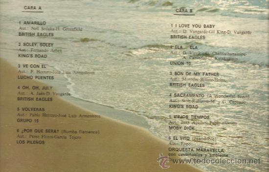 Discos de vinilo: LP EXITOS: GRUPO 15, BRITISH EAGLES, LOS PILEÑOS, KING´S ROAD, MOBY DICK, UNION 70, ETC - Foto 2 - 25093510