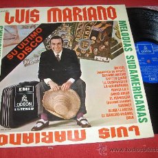 Discos de vinilo: LUIS MARIANO MELODIAS SUDAMERICANAS LP 1970 EMI ODEON. Lote 25093760