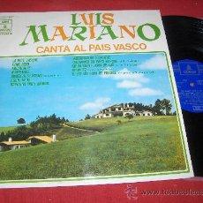 Discos de vinilo: LUIS MARIANO CANTA AL PAIS VASCO LP 1971 EMI ODEON EUSKERA EDICION ESPAÑOLA. Lote 26759022