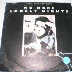 Discos de vinilo: SINGLE VINILO NO MORE LONELY NIGHTS. Lote 52476178