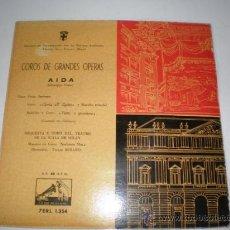 Discos de vinilo: SINGLE VINILO DE COROS Y GRANDES ORQUESTAS,,AIDA,. Lote 26566900