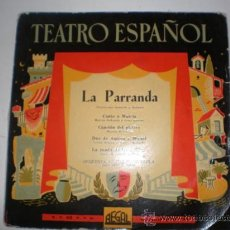 Discos de vinilo: SINGLE VINILO DE TEATRO ESPAÑOL AÑOS 60,70. Lote 26599999