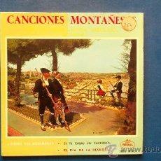 Discos de vinilo: CANCIONES MONTAÑESAS - CORO DE SNIACE - (RONDA GARCILASO ) DE TORRELAVEGA AÑO 1958. Lote 25110601