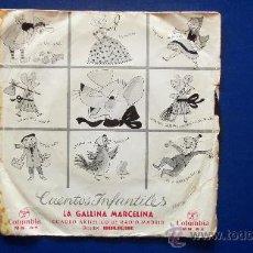Discos de vinilo: LA GALLINA MARCELINA - CUENTO AÑO 1964. Lote 25112764