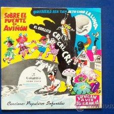 Discos de vinilo: CANCIONES POPULARES INFANTILES AÑO 1964. Lote 25113796