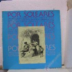Discos de vinilo: POR SOLEARES - ANTONIO MAIRENA, GORDITO DE TRIANA, TERREMOTO DE JEREZ,...- HISPAVOX 1986. Lote 25133775
