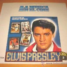 Discos de vinilo: BSO - ELVIS PRESLEY - SELECCION DE BANDAS SONORAS KING CREOLE - LP - LA MUSICA EN EL CINE 3 - N MINT. Lote 25153358