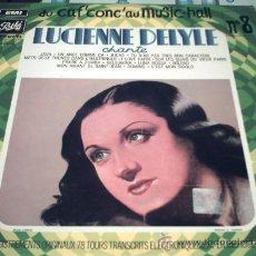 Discos de vinilo: LUCIENNE DELYLE /CHANTE DU CAF CONC AU MUSIC-HALL Nº 8/LP BELGIUM PEPETO. Lote 25166393