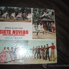 Discos de vinilo: SIETE NOVIAS PARA SIETE HERMANOS Y ROSE MARIE LP BANDA SONORA ORIGINAL M.G.M 1964 SPA. Lote 25178048