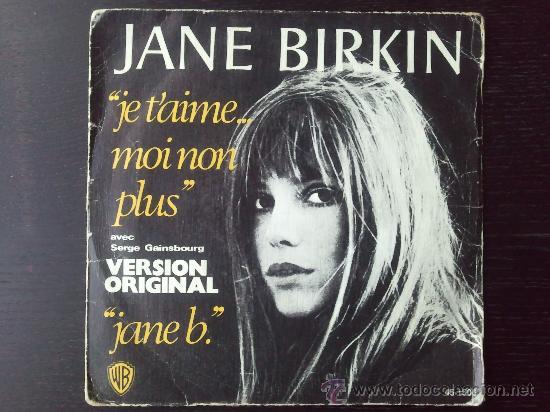 """JANE BIRKIN - JE TÁIME... MOI NON PLUS - SINGLE VINILO 7"""" - 2 TRACKS - 1977 (Música - Discos - Singles Vinilo - Pop - Rock - Extranjero de los 70)"""