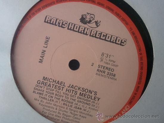 Discos de vinilo: MICHAEL JACKSON´S GREATEST HITS MEDLEY - VINILO - Foto 2 - 27156325