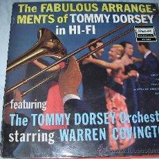 Discos de vinilo: LP THE TOMMY DORSEY ORCHESTRA STARRING WARREN COVINGTON. Lote 25205056