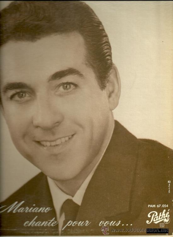 LUIS MARIANO LP SELLO PATHÉ EDITADO EN CANADA. (Música - Discos - LP Vinilo - Solistas Españoles de los 50 y 60)