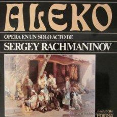 Discos de vinilo: ALEKO - RACHMANINOV - DOBLE LP - 1980 (EXCELENTE ESTADO). Lote 26625455