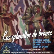 Discos de vinilo: FLAMENCO CANCION ESPAÑOLA COPLA. LOS GITAÑILLOS DE BRONCE. MONTILLA. ZAFIRO. Lote 26871808