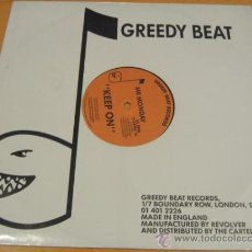 Discos de vinilo: MR MONDAY - KEEP ON - DONT STOP - MX - GREEDY BEAT 1989 UK 12 GREED 78. Lote 25235632