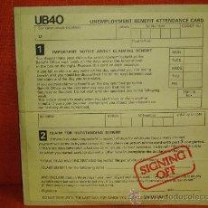 """Discos de vinil: UB40 """"SIGNING OFF"""" LP + MAXI 1980 GRADUATE RECORD UK. Lote 25259091"""