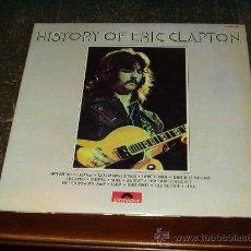 Discos de vinilo: ERIC CLAPTON DOBLE LP HISTORY. Lote 26663257
