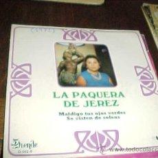 Discos de vinil: LA PAQUERA DE JEREZ. MALDIGO TUS OJOS VERDES. DUENDE 1971.. Lote 149317869