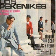 """Discos de vinilo: LOS PEKENIKES - RARO SINGLE VINILO 7"""" - EDITADO EN ALEMANIA - HILO DE SEDA + SOMBRAS Y REJAS - 1966. Lote 26758641"""