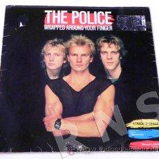 Discos de vinilo: DISCO VINILO 45 RPM THE POLICE - WRAPPED AROUND YOUR FINGER - MAXISINGLE GRUPO ROCK BRITÁNICO 80. Lote 27343371