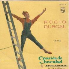 Discos de vinilo: EP ROCIO DURCAL CANCION DE JUVENTUD . Lote 25365132