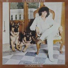 Discos de vinilo: CLAUDIO BAGLIONI - UN PO DI PIU - CBS 1985. Lote 25632138