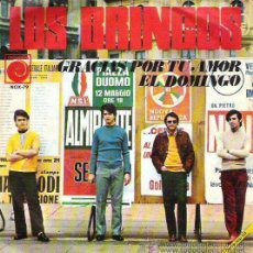 Discos de vinilo: LOS BRINCOS - GRACIAS POR TU AMOR / EL DOMINGO - 1968. Lote 26782350
