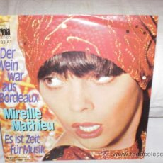 Discos de vinilo: MIREILLE MATHIEU-DER WEIN WAR AUS BORDEAUX-SINGLE CANTADO EN ALEMAN. Lote 25397983