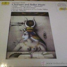Discos de vinilo: VERDI.- CHORUSES AND BALLET MUSIC.- DIR.- CLAUDIO ABBADO.- . Lote 25441295