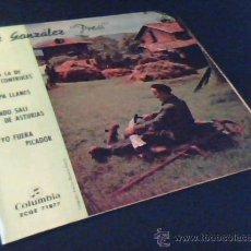 Discos de vinilo: JOSE GONZALEZ PRESI. SINGLE CON 4 CANCIONES ASTURIANAS: SIDRINA LA DE CONTRUECES. VOY PA LLANES..... Lote 26916803
