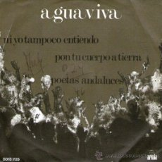 """Discos de vinilo: AGUAVIVA - EP-SINGLE VINILO 7"""" - EDITADO EN PORTUGAL - PON TU CUERPO A TIERRA + 2. Lote 25495715"""