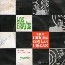 """Discos de vinilo: LOS BRAVOS - EP-SINGLE VINILO 7"""" - EDITADO EN PORTUGAL - LOS CHICOS CON LAS CHICAS + 3. Lote 25495998"""
