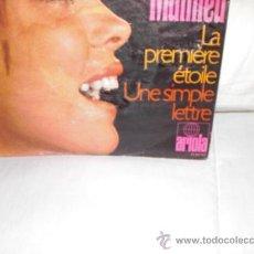 Discos de vinilo: MIREILLE MATHIEU-LA PREMIÈRE ÈTOILE-SINGLE ALEMAN(CANTADO EN FRANCES). Lote 25511877
