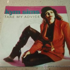 Discos de vinilo: KYM SIMS ( TAKE MY ADVICE ) ORIGINAL 7' + URBAN 7' 1992-GERMANY SINGLE45 ATCO. Lote 25512815