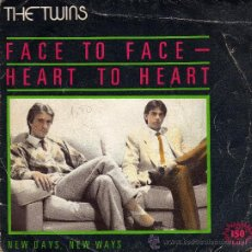 Discos de vinilo: THE TWINS FACE TO FACE - HEART TO HEART. Lote 25526195