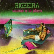 Discos de vinilo: RIGHEIRA VAMOS A LA PLAYA. Lote 25526256