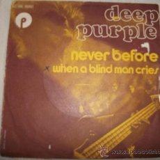 Discos de vinilo: DEEP PURPLE - NEVER BEFORE / EDICIÓN FRANCESA . Lote 26915672